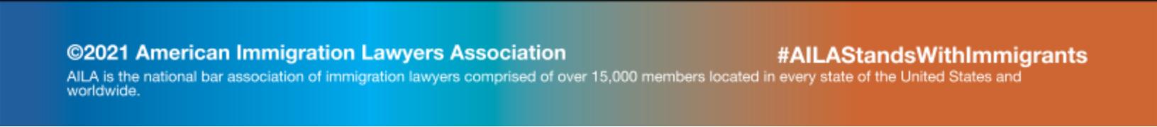 Pie de página de la Asociación Estadounidense de Abogados de Inmigración