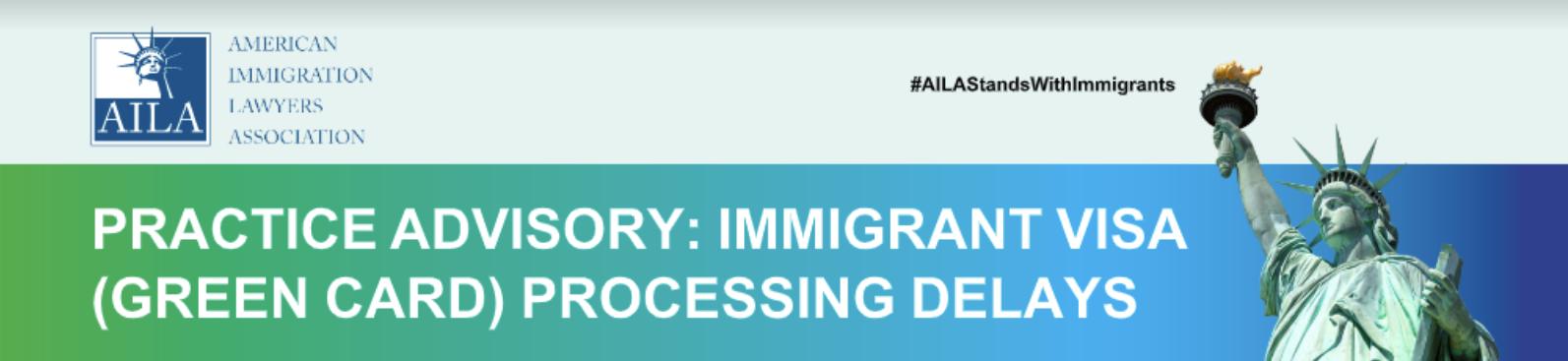 Asesoramiento de práctica de AILA: Encabezado de demora en el procesamiento de inmigración (tarjeta verde)